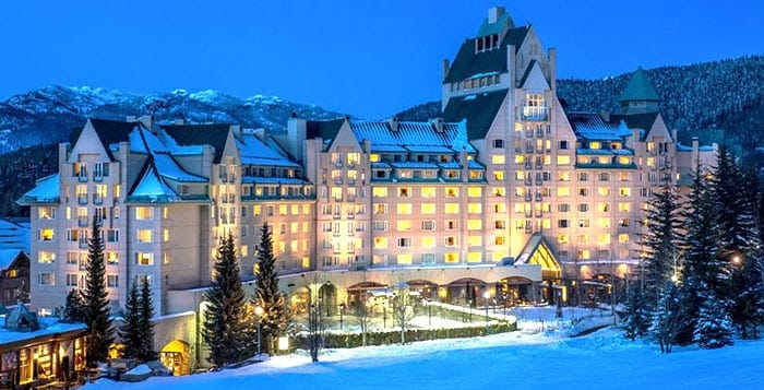 Fairmont Whistler in snow