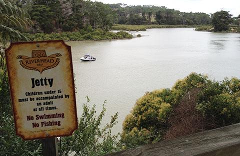 Riverhead jetty sign