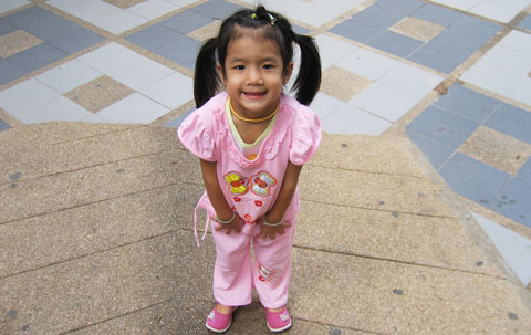 Thai girl at temple