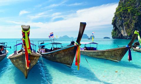 Thailand long boats