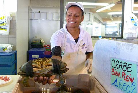 Seafood market Noumea