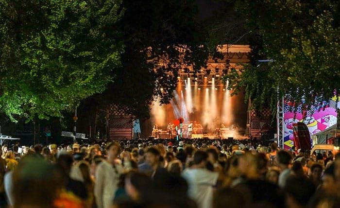 Laneway stage in Albert Park