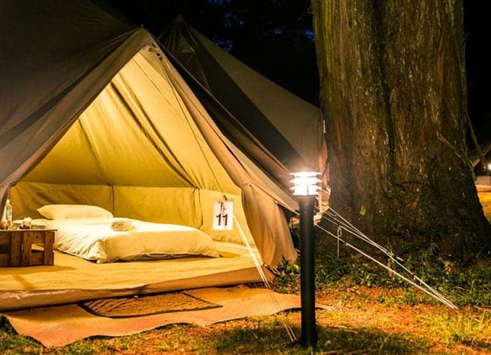 Glamping tent at Womad NZ