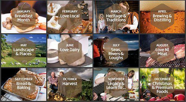 Irish food calendar
