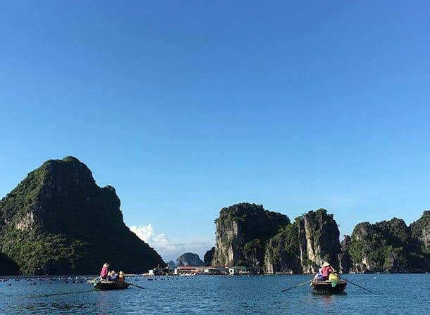 Ha Long Bay bamboo boat ride