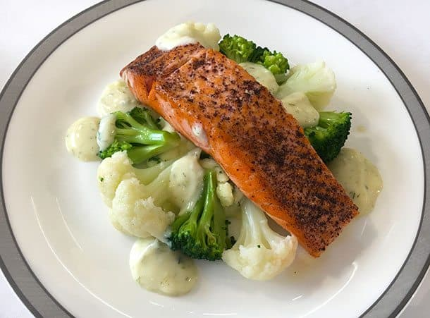 Book the cook NZ salmon Singapore Airlines