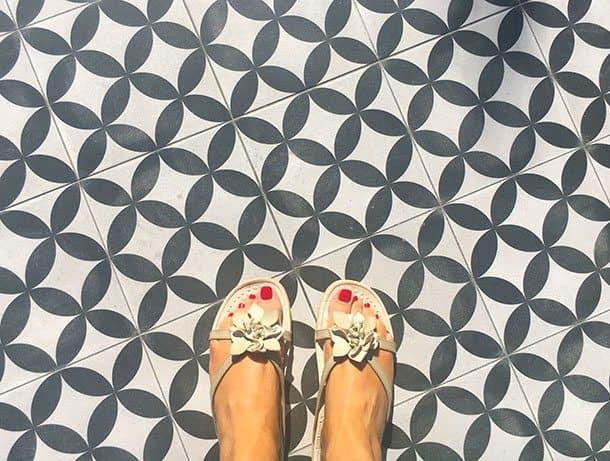 Palm Springs tiled floor