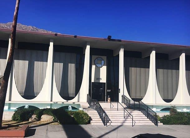 Palm Springs midcentury modern building