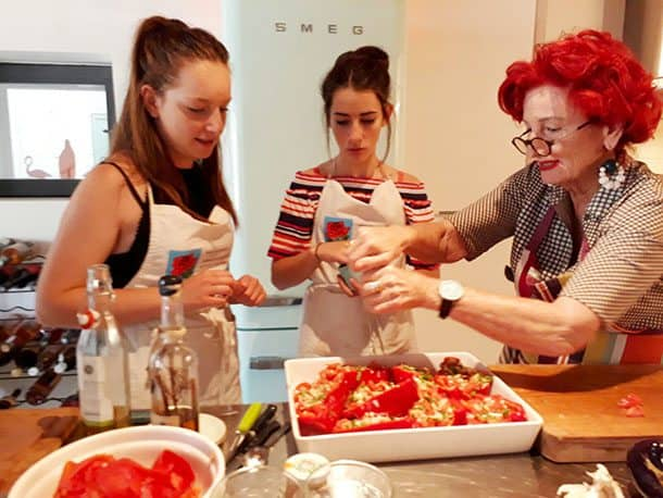 Peta Mathias cooking school
