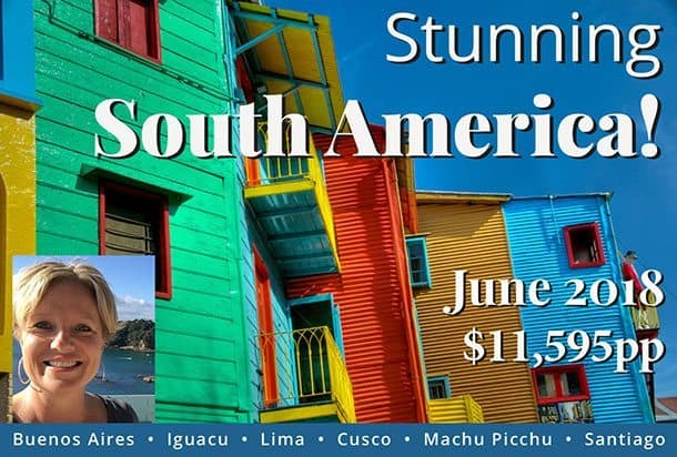 Join my south america tour