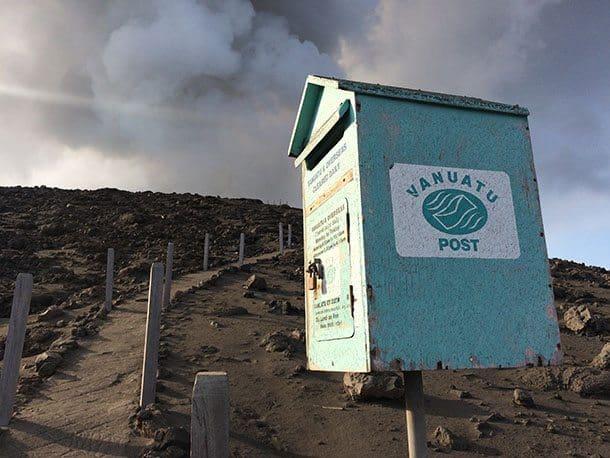 Volcano mail box Vanuatu