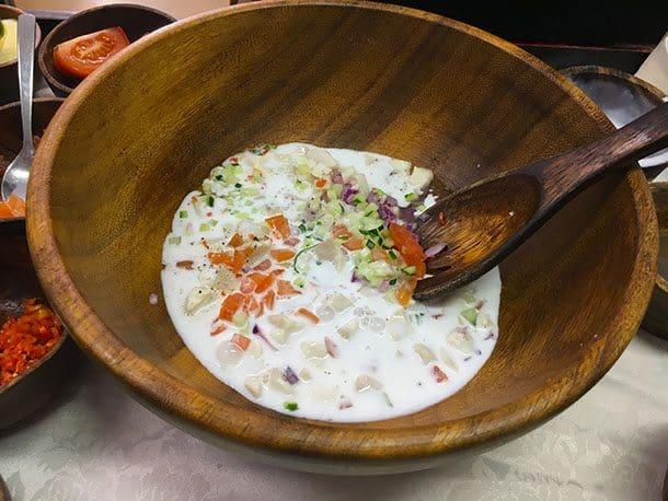 Kokoda mixed in a bowl