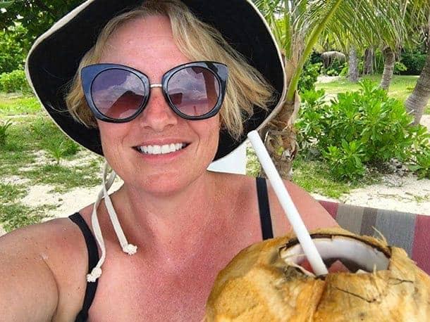 In a cabana in Fiji