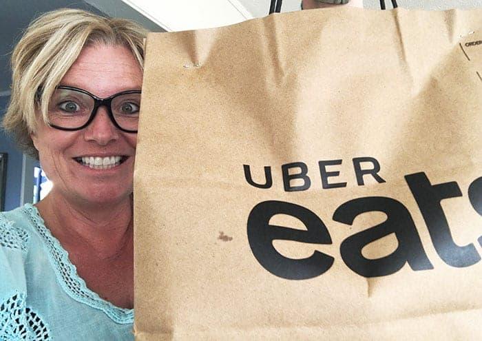 Receiving my Uber Eats