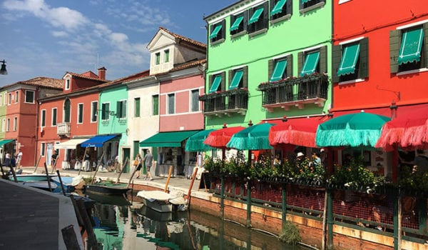 Colourful buildings in Burano