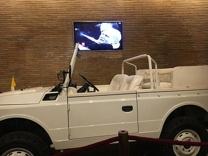 Popemobile in Vatican Museums