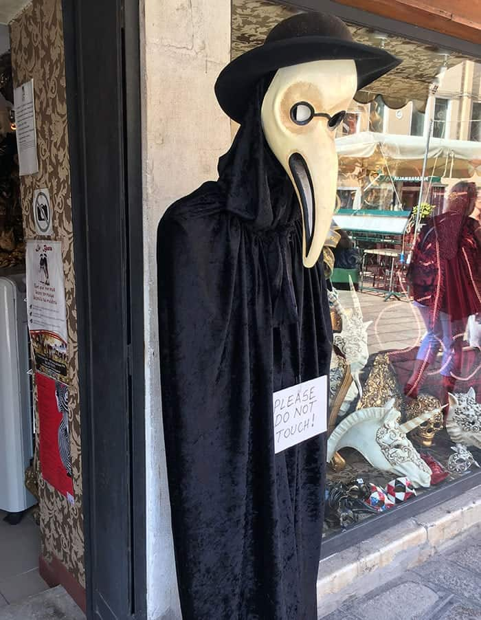 black plague doctors mask venice