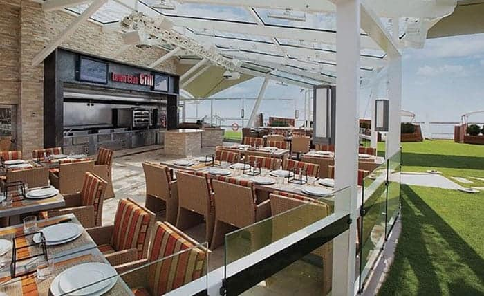 lawn club grill on celebrity ship