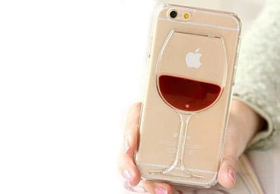 3D wine glass iPhone cases