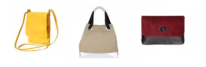 Leather hand bags from Italy