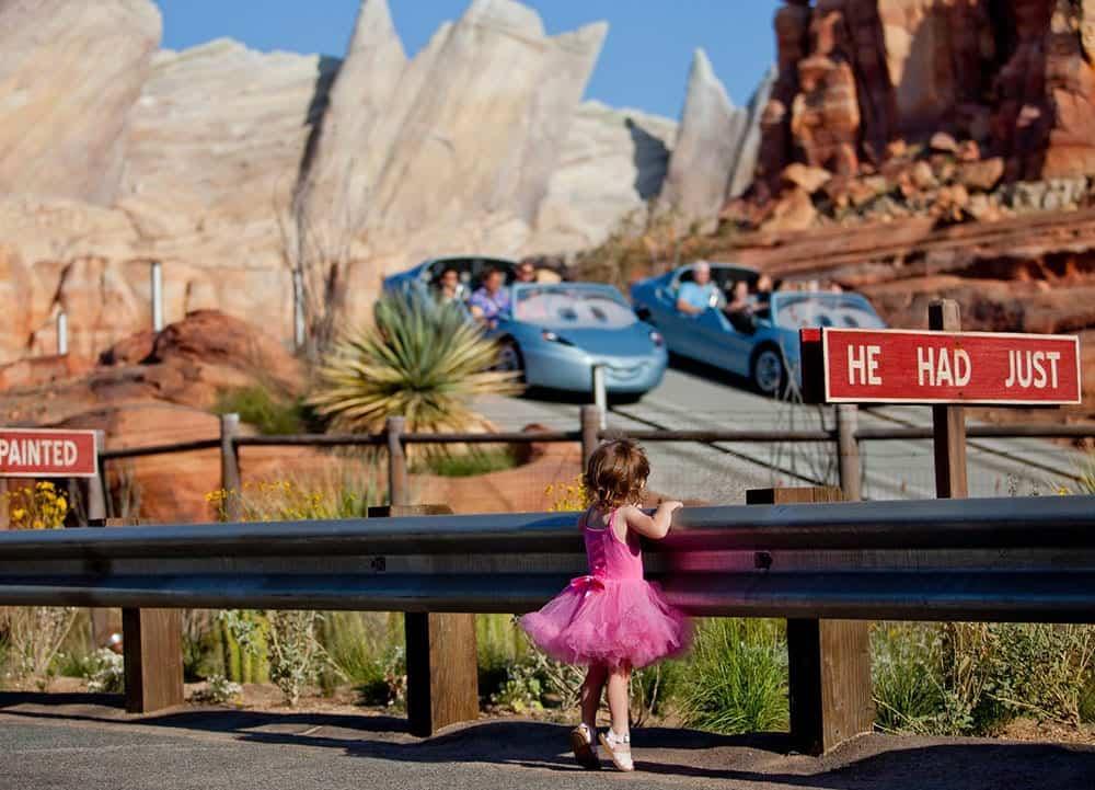 Girl watching Cars Land