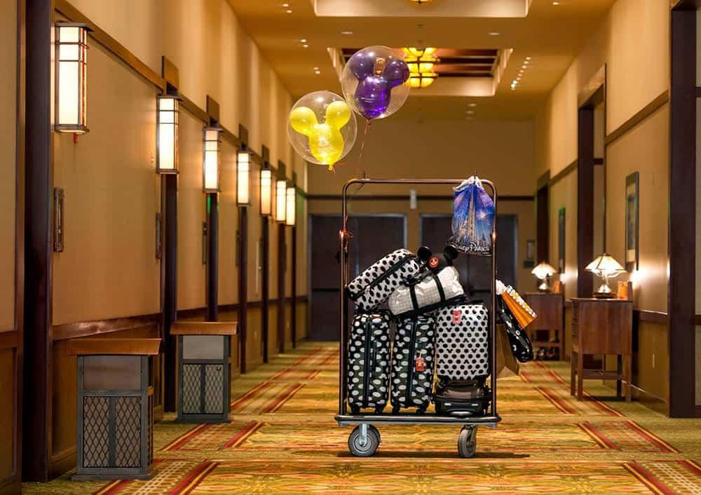 Disney luggage in hotel