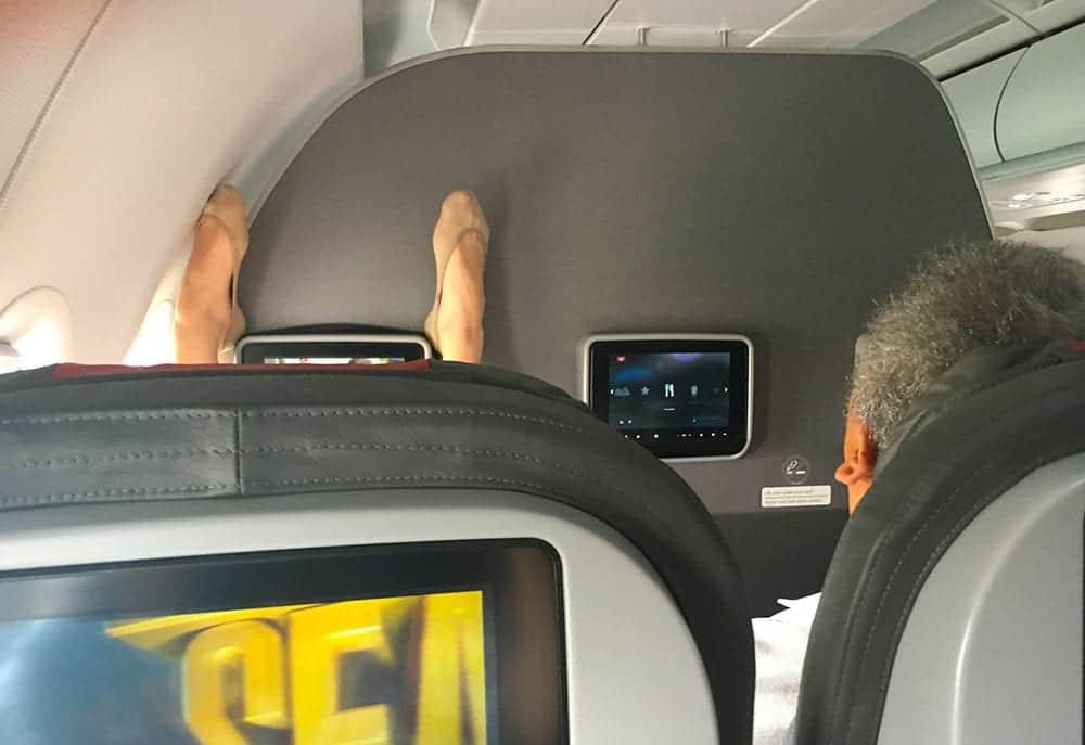 get comfortable on a long haul flight