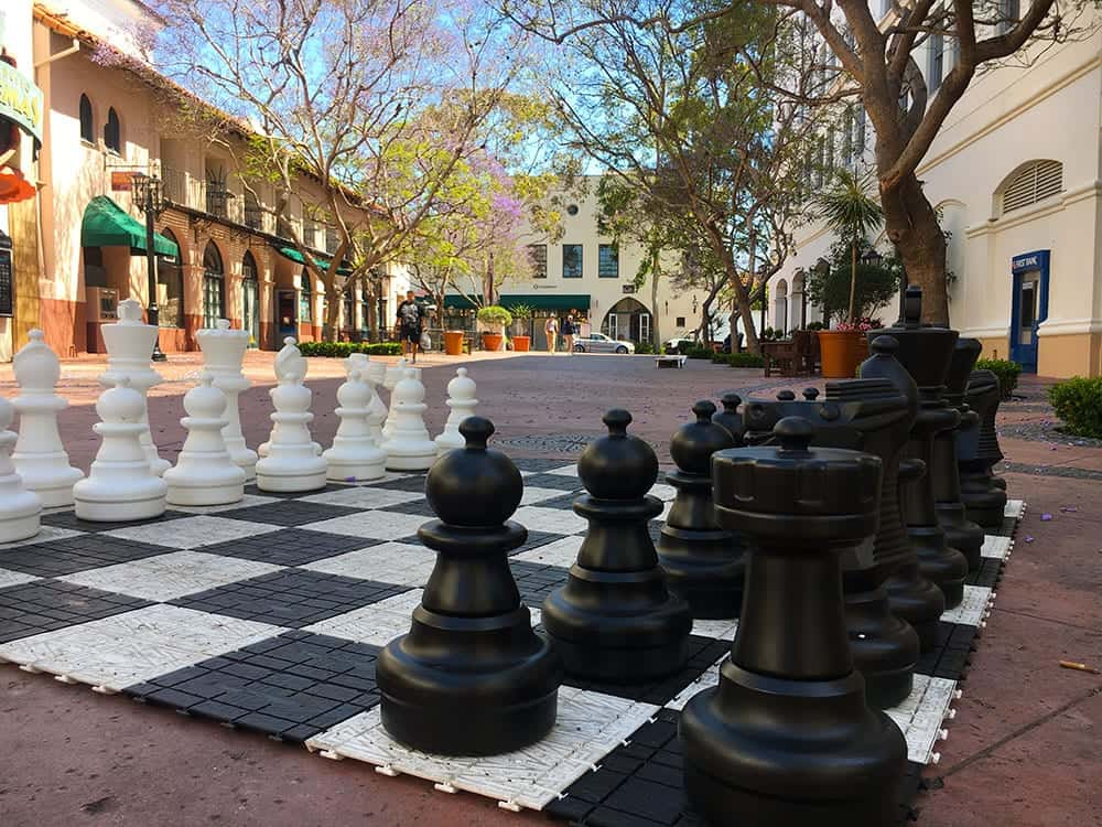 Chess board off State Street Santa Barbara