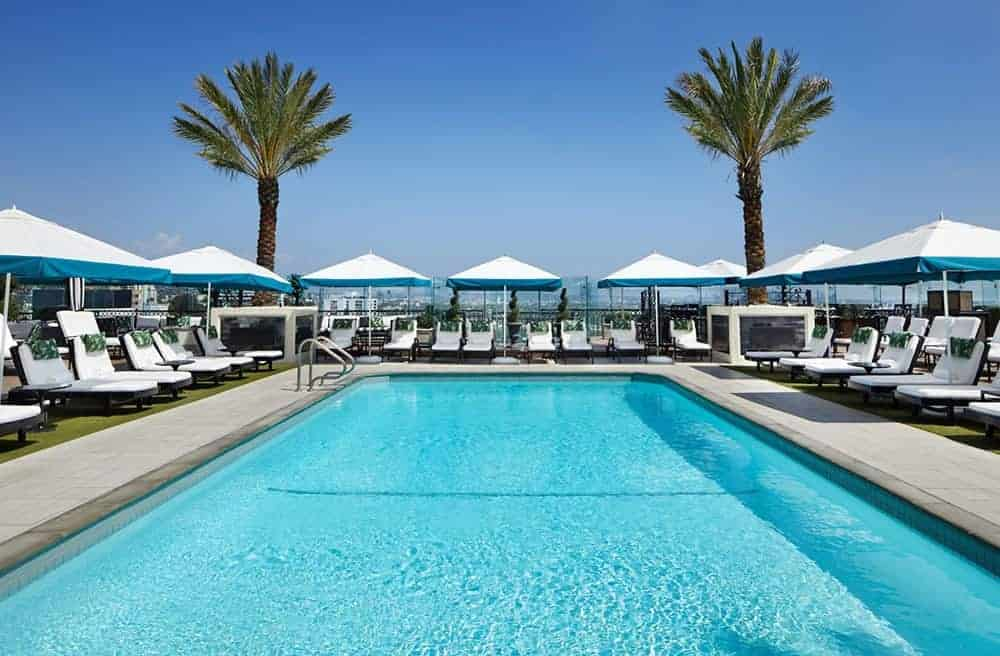 The London rooftop pool and bar West Hollywood