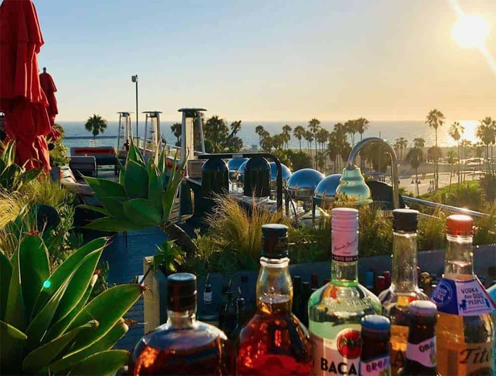 On the rooftop of Hotel Erwin, Venice Beach