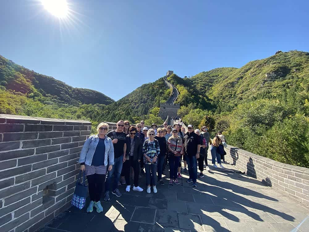 Standing on the Great Wall of China