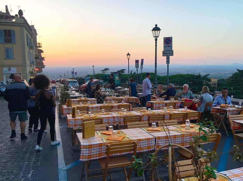 Dinner in Frascati