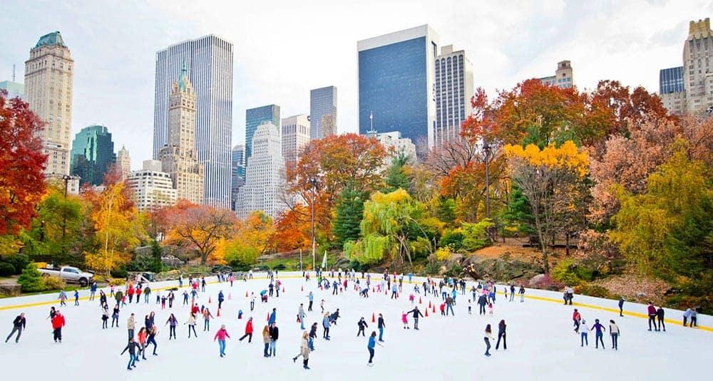 Ice skating in Central Park New York
