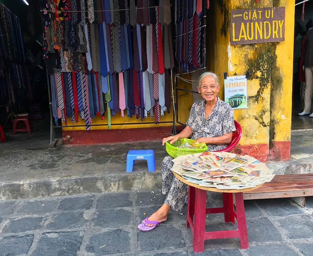 Lady selling in Vietnam