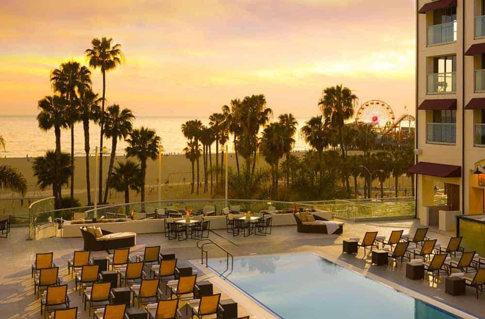 Loews Santa Monica pool and beach