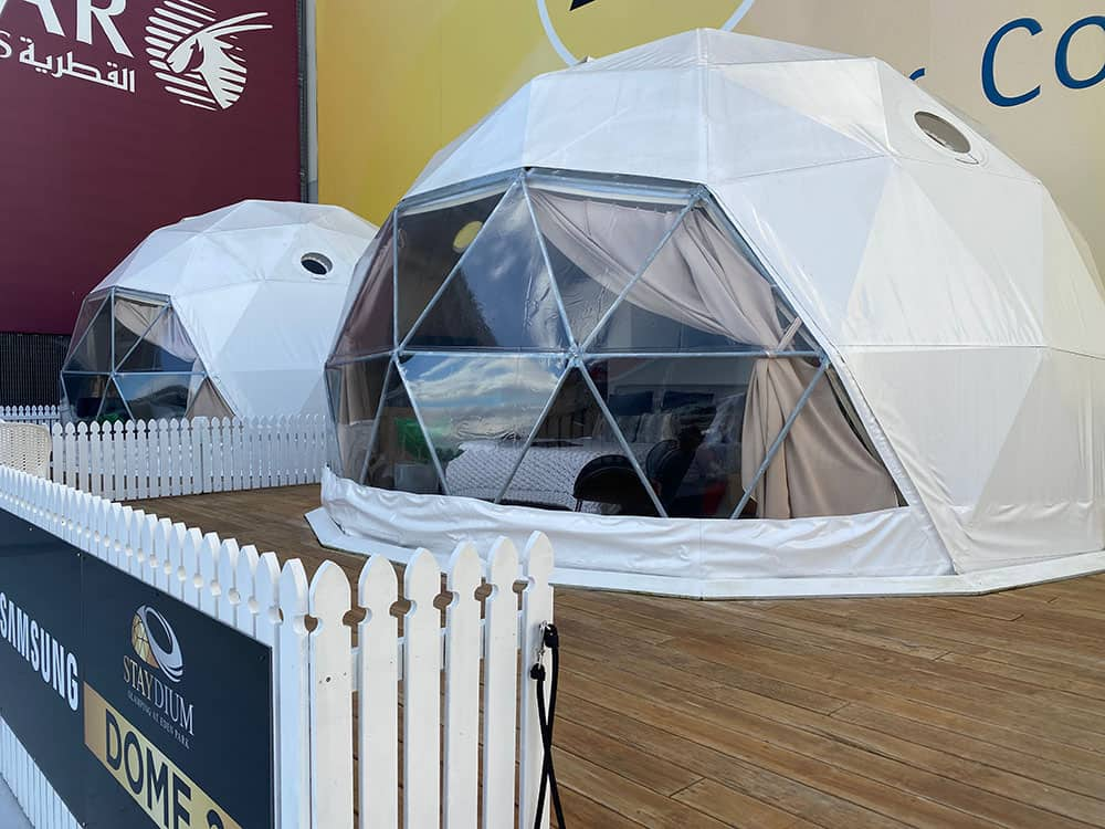 Staydium glamping pods at Eden Park