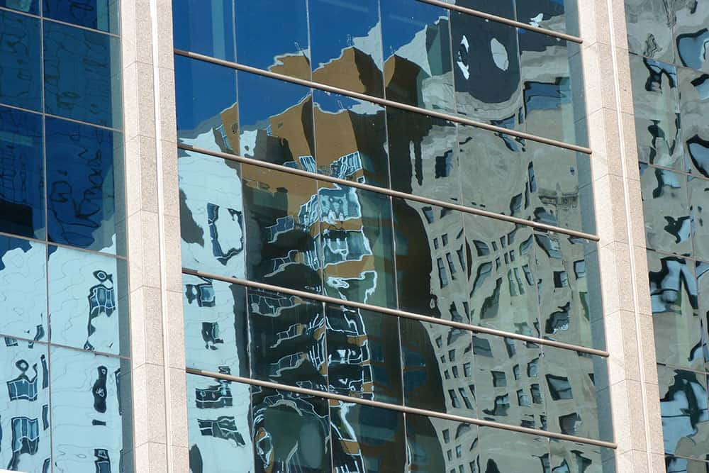 reflections in glass windows