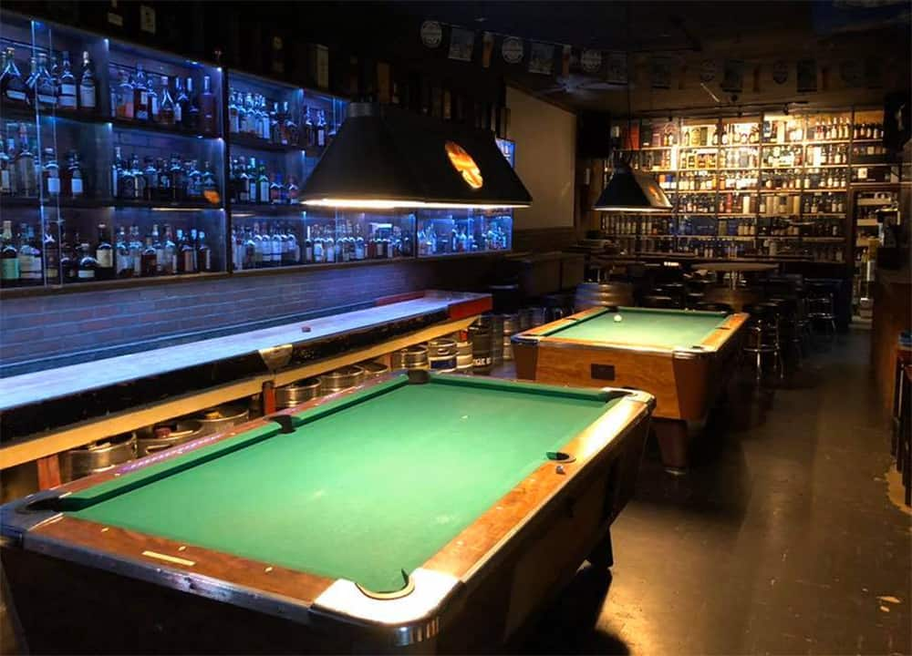 Pool tables at The Daily Pint