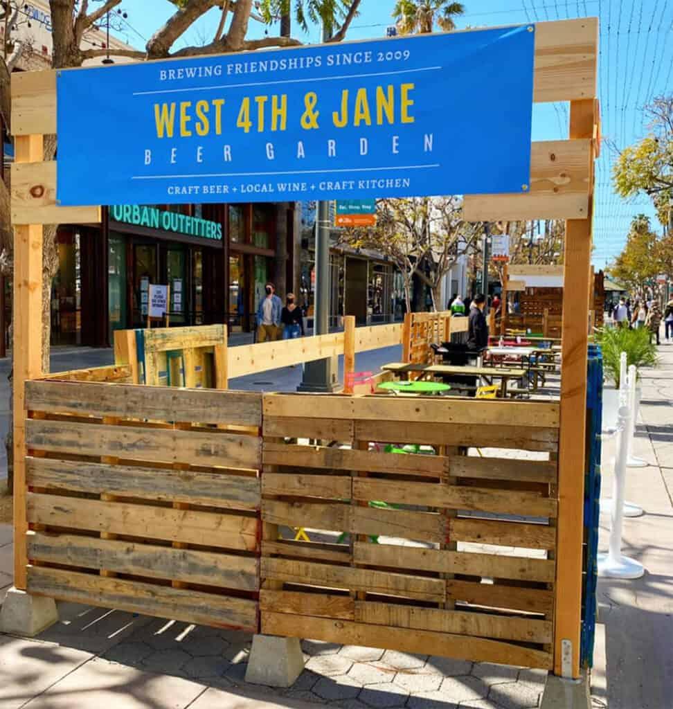 West 4th & Jane pop up beer garden