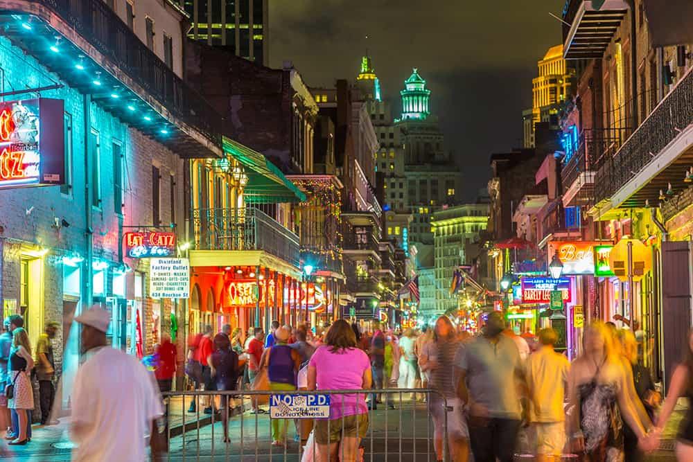 Nightlife on Bourbon Street