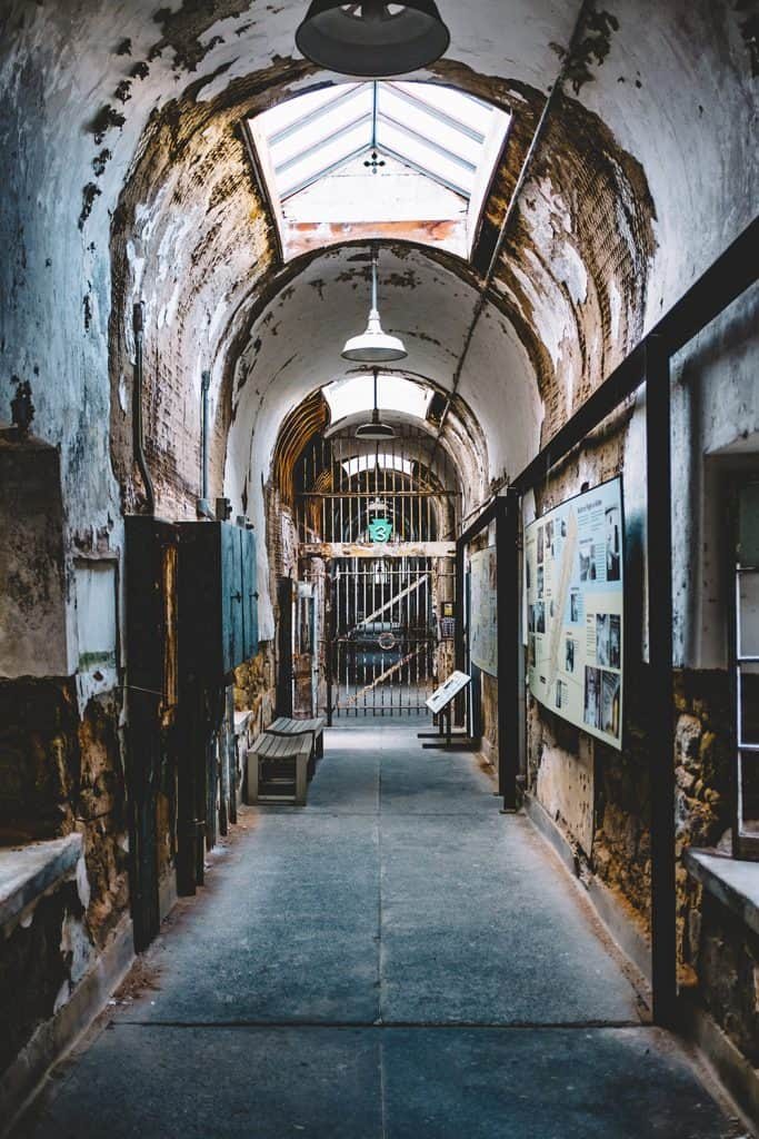 The run down halls of Eastern State Penitentiary