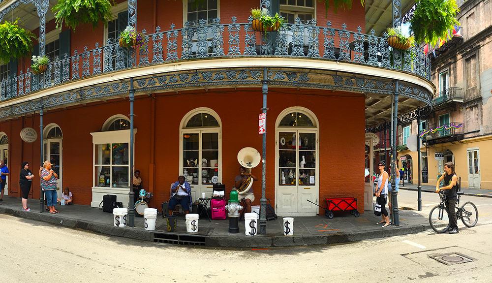 street corner musicians in the French Quarter