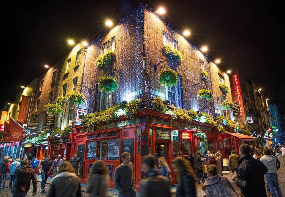 A night out at Temple Bar, Dublin