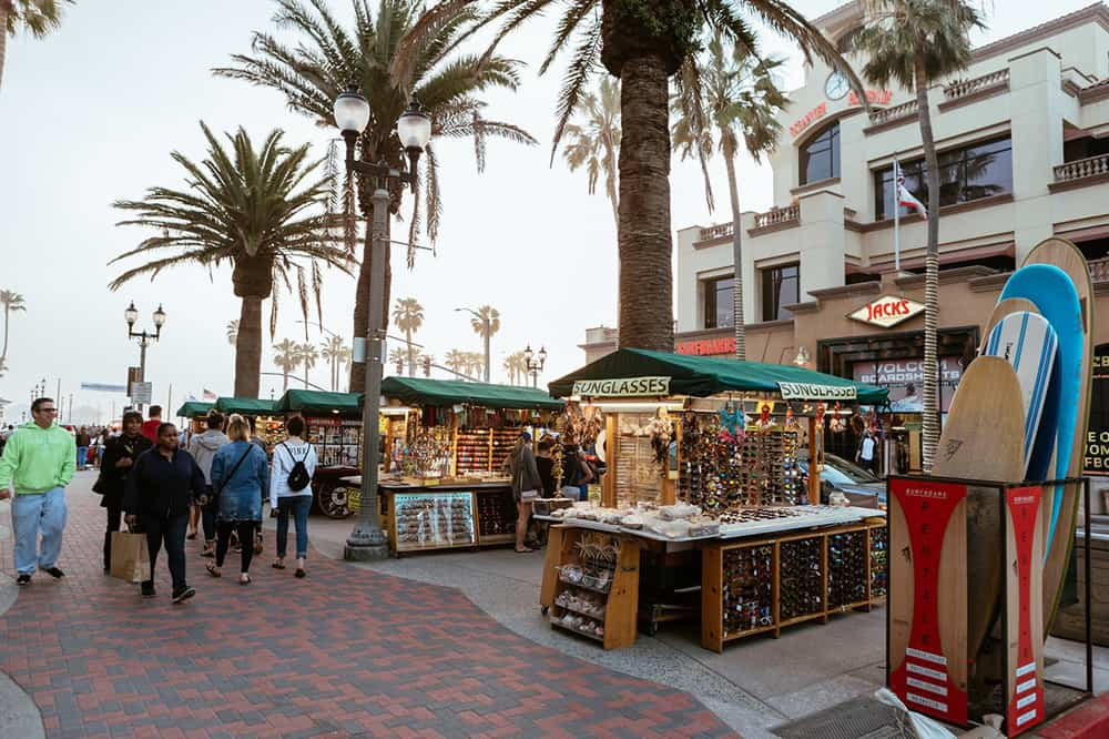 Shopping on Main Street, Huntington Beach