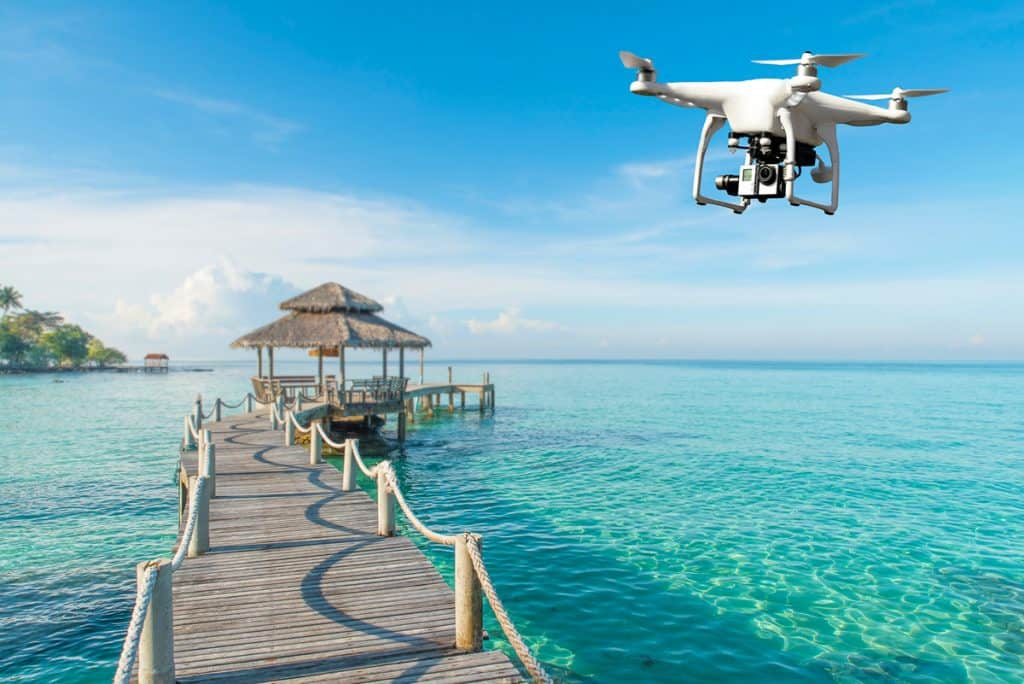 Drone over jetty