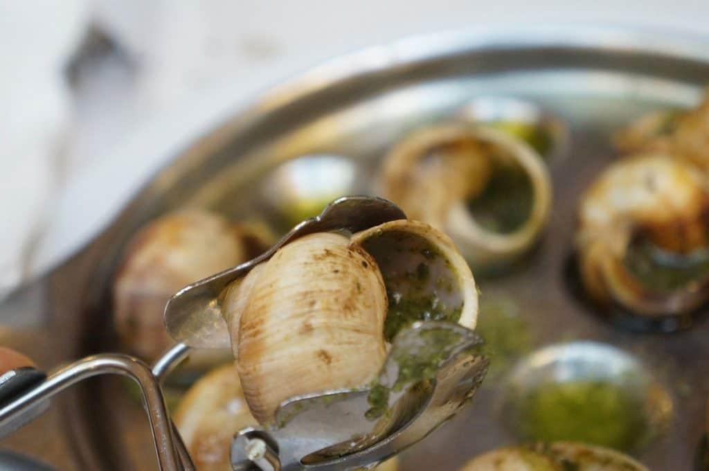 Garlicky, buttery escargot