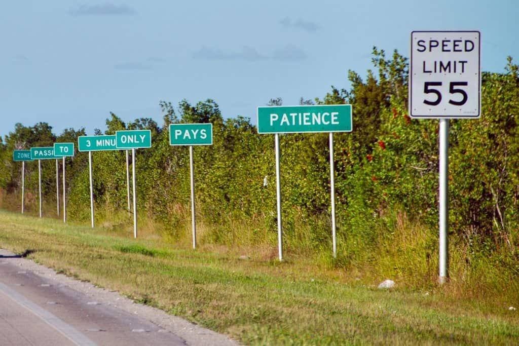 Florida keys road signs