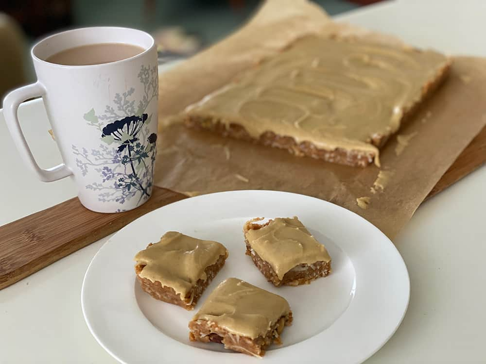 No bake ginger slice and a cuppa