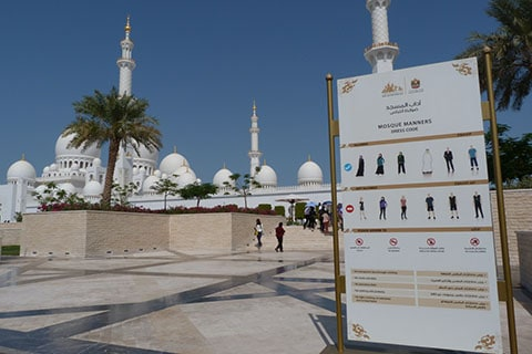 Abu Dhabi mosque manners