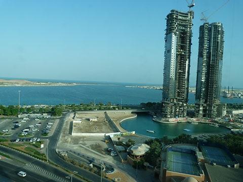 Abu Dhabi view from Sofitel
